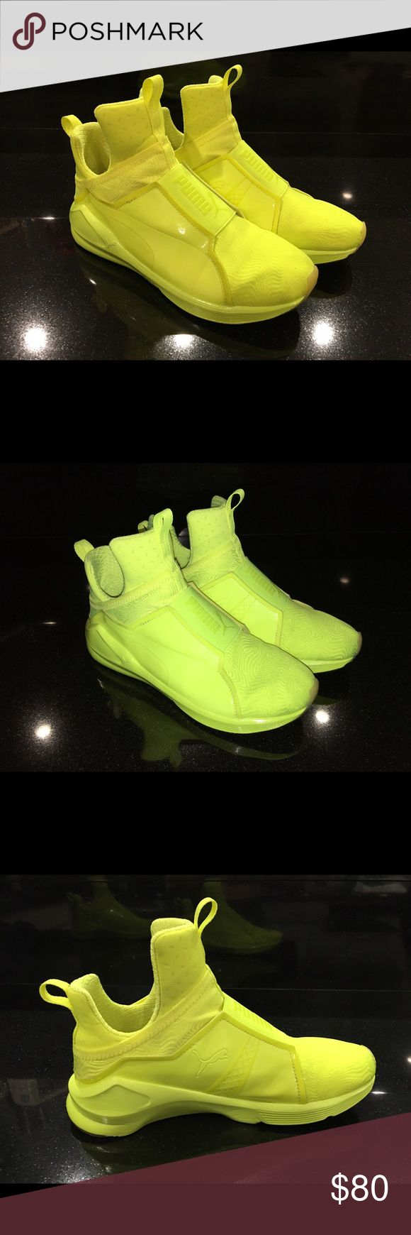 Puma Fierce Safety Yellow Women's Trainer Size 8 These have been worn a handful of times but are in near new condition. Puma Shoes Sneakers