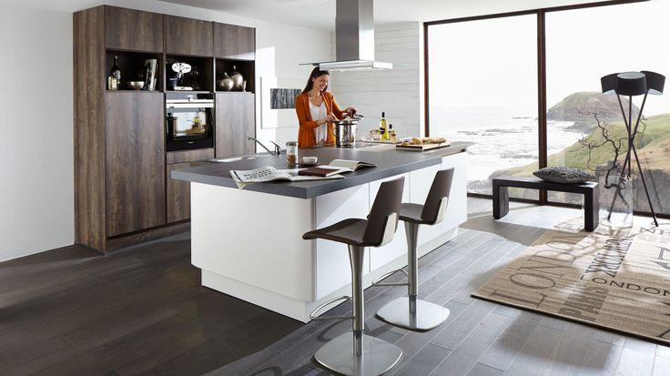 Culineo g345 grifflos lacklaminat grafit hochglanz culineo aus liebe zur küche pinterest hochglanz raumdesign und einbauküchen