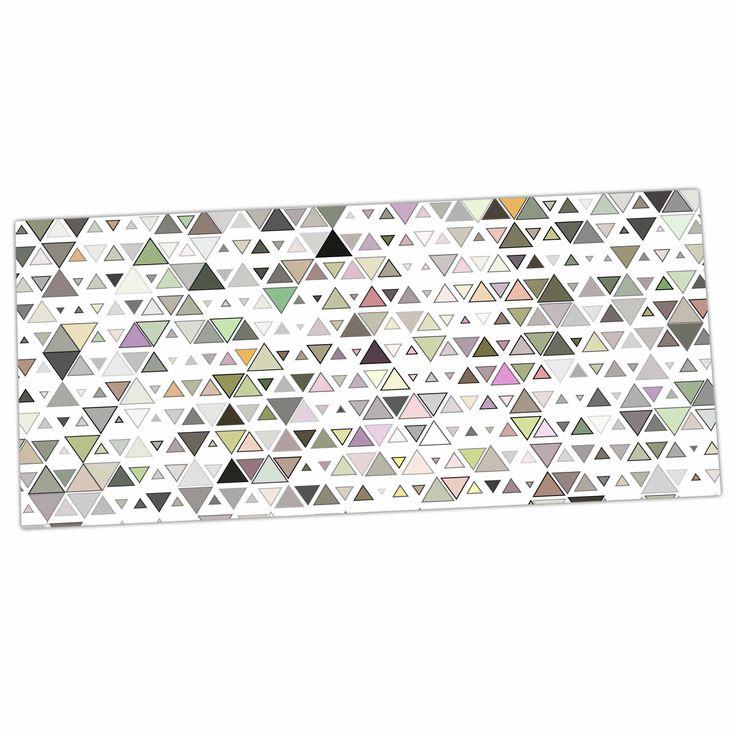 "Angelo Cerantola ""Triangulation "" Geometric White Desk Mat"