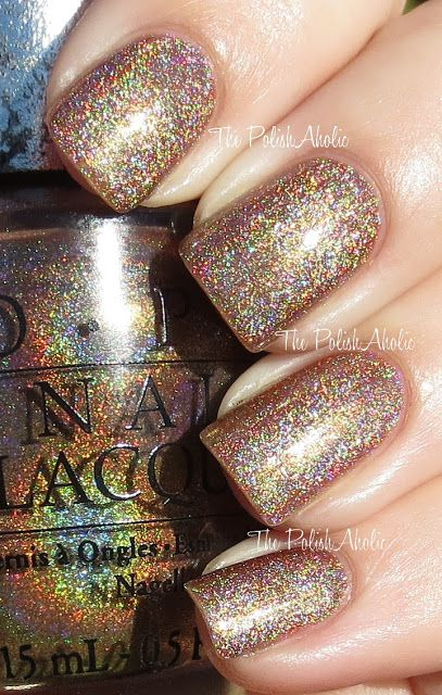 OPI: DS Desire. It's super-holo-riffic. It's also much browner than this, but so glam.