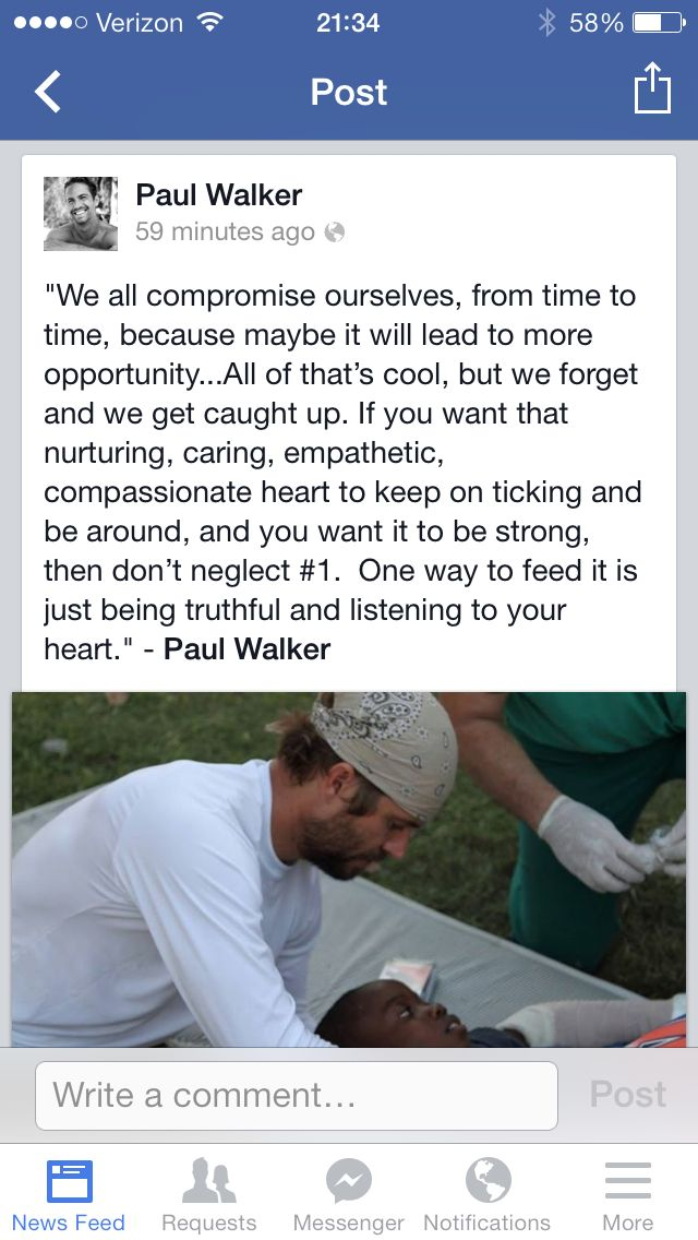 Quote from Paul Walker