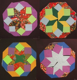 Paper kolams - so cool! Great project for next Diwali (Use with page 71 - learning about India)