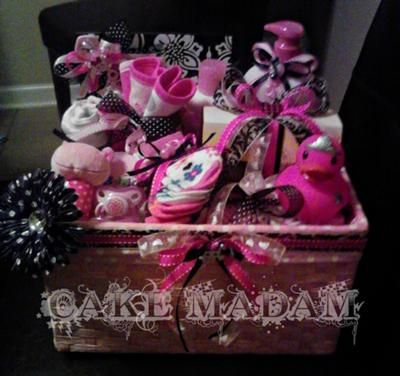 Punk Rock Baby Giftbasket: I just threw the most wicked baby shower for one of my dearest friends in the world!!! I was so thrilled to be able to do this for her. She could not