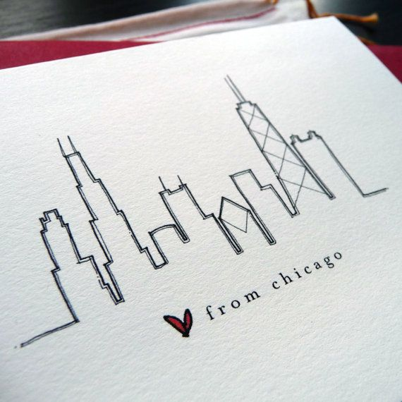 Love this Skyline idea of chicago! Something like this at the back or shoulder would be great!