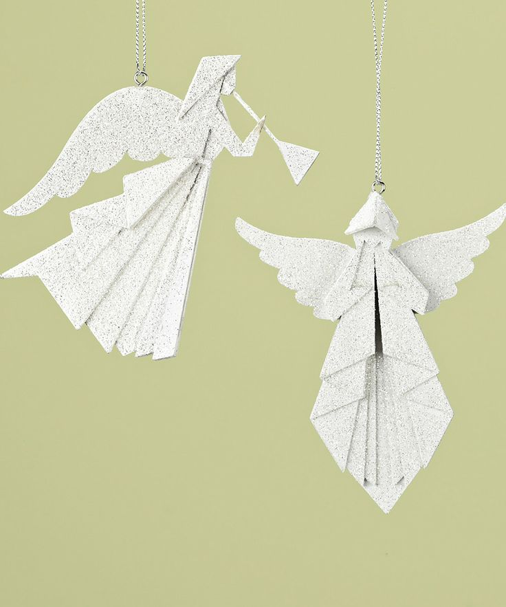 angel origami ornament set