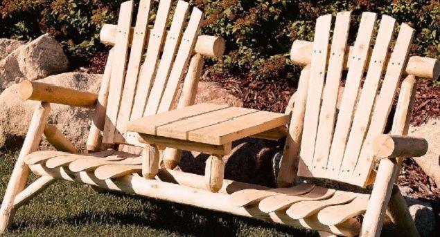 Outdoor Table and Chairs Rustic Garden Furniture Patio Backyard Decor Cedar Set #LakelandMIlls