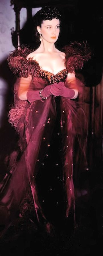 Vivien Leigh, as Scarlett O'Hara, Gone With the Wind, Costume design by Walter Plunkett, 1939