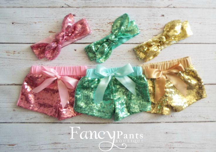 Girls Sequin Shorts SET, Gold Shorts, Pink Shorts, Mint Shorts, Girls Birthday Shorts, Toddler Shorts, Baby Shorts, Gold Birthday Outfit by byFancyPants on Etsy https://www.etsy.com/listing/270372566/girls-sequin-shorts-set-gold-shorts-pink