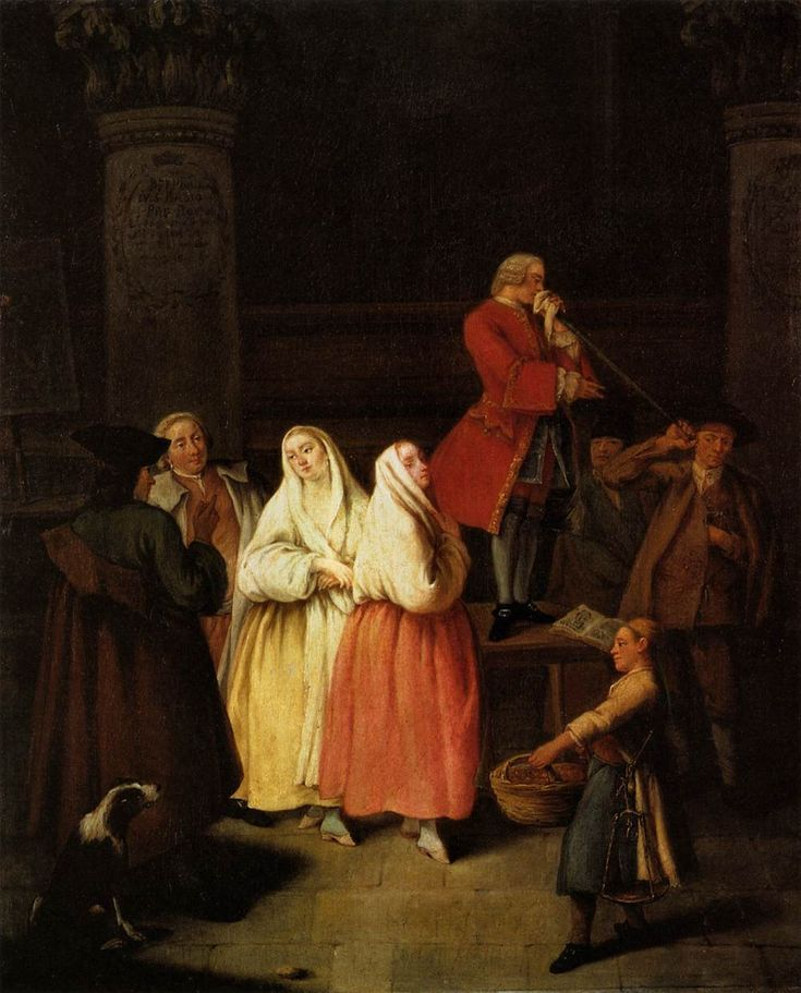 Pietro Longhi The Soothsayer circa 1750