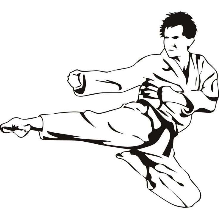 Karate Flying Kick Martial Arts