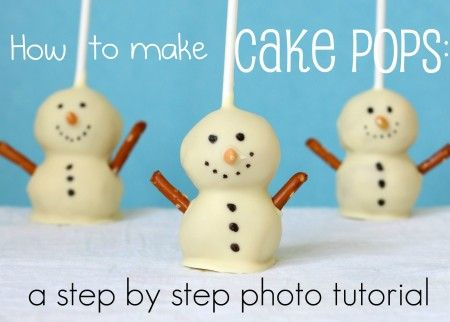 How to Make Cake Pops: a step-by-step photo tutorial... So making these for Christmas!