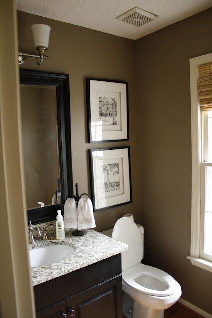 Brown bathroom on pinterest brown bathroom decor brown bathroom