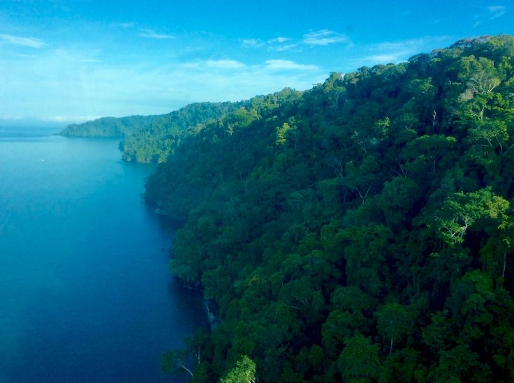 Flying over Golfo Dulce, Costa Rica.