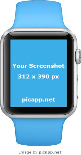 If you've created a new iOS app and you want to present it to your customers, use this beautiful, blue Apple Watch in portrait position to impress them! On Picapp.net you can find a large library of the latest device frames. Choose what is perfect for you, upload your app screenshot and you're done! Easy, right?   #apple #nobackground #mockup #AppleWatch #smartwatch #picapp #png