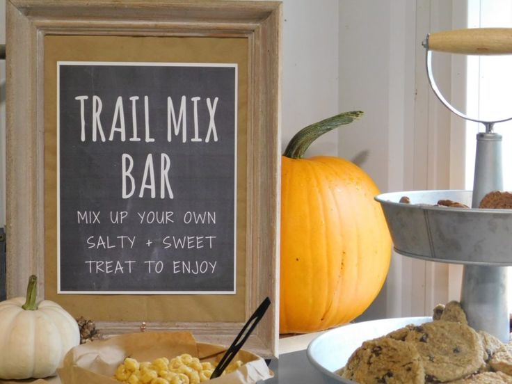 Booya Feed & Wagon Rides {Free Trail Mix Bar Printables}