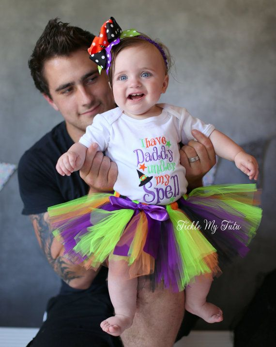 I Have Daddy Under My Spell Tutu Outfit My First by TickleMyTutu