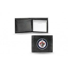 Winnipeg Jets NHL Team Embroidered Leather Billfold/Wallet