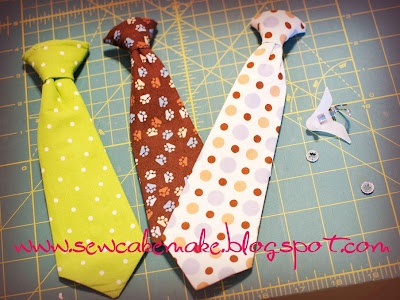 Making a toddler clip-on tie from an adult tie