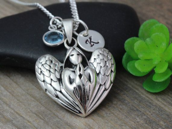 Guardian Angel  Necklace Sterling silver Guardian by LifeOfSilver