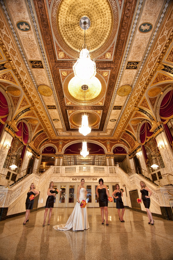 Bridal Party In The Palace Theater Grad Foyer