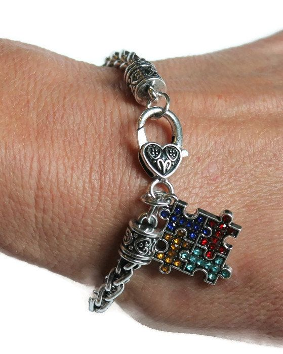 Check out Autism Bracelet - Autism Awareness Bracelet is a great Valentine's Day Gift for her, Autism Puzzle Bracelet, Autism, Aspergers Bracelet on amysbubblingboutique