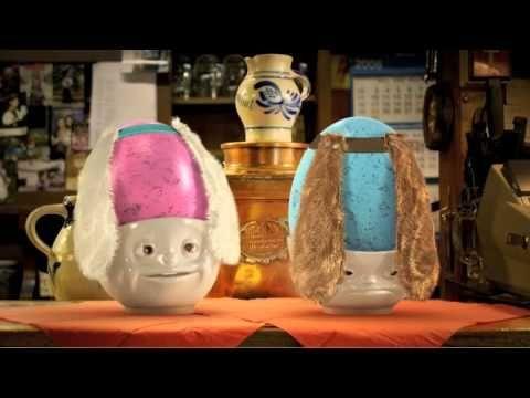 Hartporzellan Eierbecher 2er-Set küssend und verträumt weiß... finden Sie im kuechenkonsum - YouTube