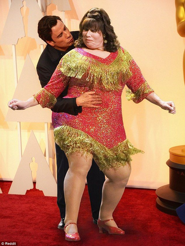 Dancing with myself: Travolta gets to shake it with his character Edna Turnblad from the m...