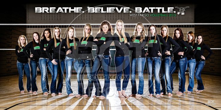 Volleyball Team Portraits | 2013 West Fargo Girls Volleyball 10x20-Final Proof
