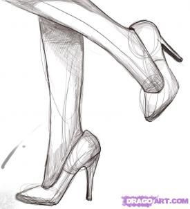 Draw Heels... thank god,  my last drawing similar really freaking sucked.