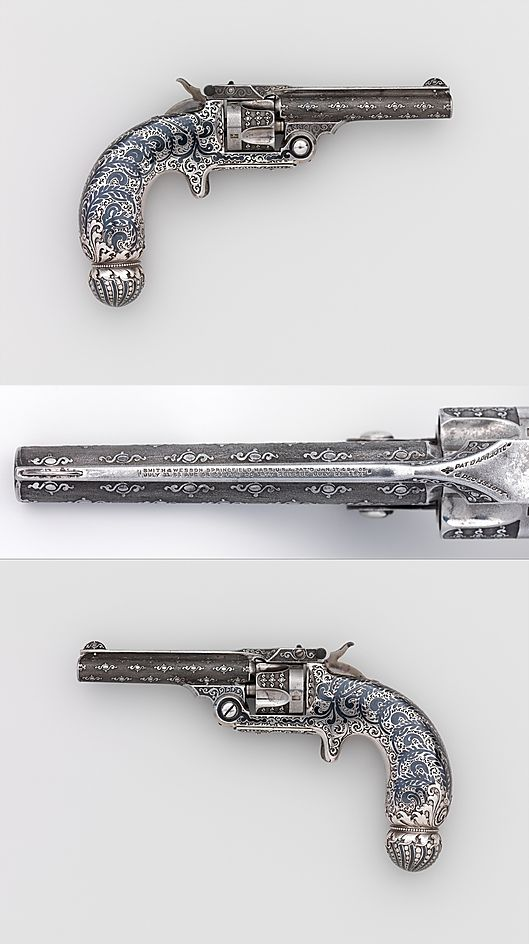 Smith and Wesson .32 Single-Action Revolver, Serial no. 94421  Smith & Wesson (American, established 1852) Tiffany & Co. designed, ca. 1891–93 .
