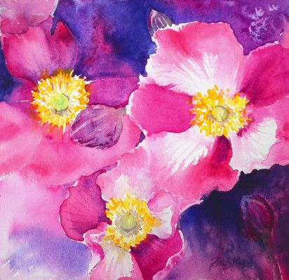 Ruth S Harris Fine Art - Floral Watercolours
