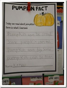 Free Pumpkin Fact writing page