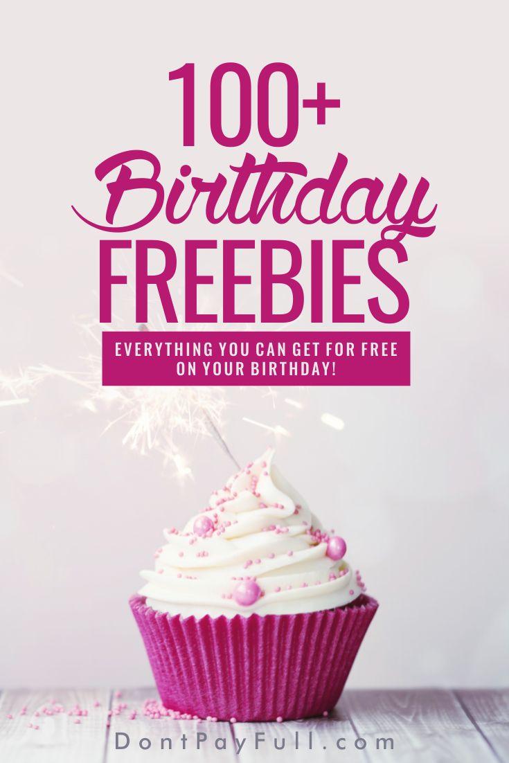 Best 25 Freebies on your birthday ideas on Pinterest Birthday