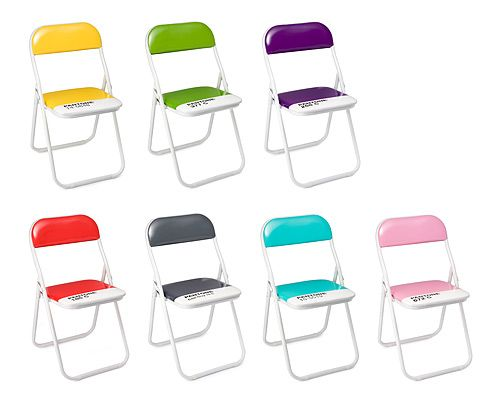 Obsessed. Wonder if I can make my own using cheap Ikea chairs and paint? (PANTONE FOLDING CHAIRS; $75.00; uncommongoods.com)