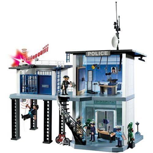 "PLAYMOBIL Police Station w Alarm System - Playmobil - Toys ""R"" Us - Cannon (Xmas)"