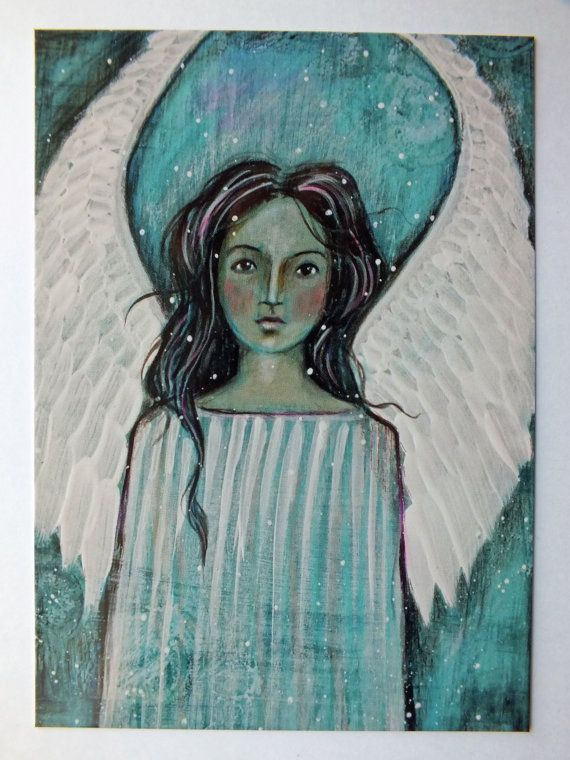Postcard Print Blue Angel by Pennystamper on Etsy