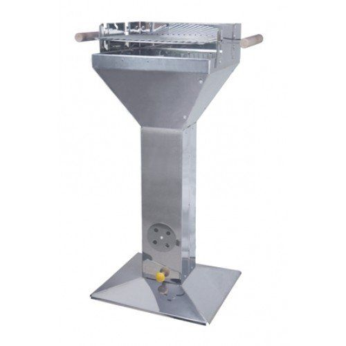 Stainless Steel Pedestal Barbecue Charcoal Grill BBQ Grill with Ash Drawer Barbeque BBQ Grill