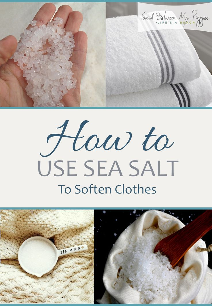 How to Soften Clothes, Sea Salt Hacks, Laundry Tips and Tricks, DIY Softener, Popular Pin.