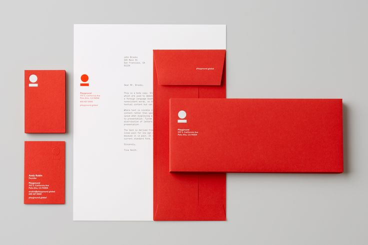Brand identity and stationery set for venture fund and start-up studio Playground by Character