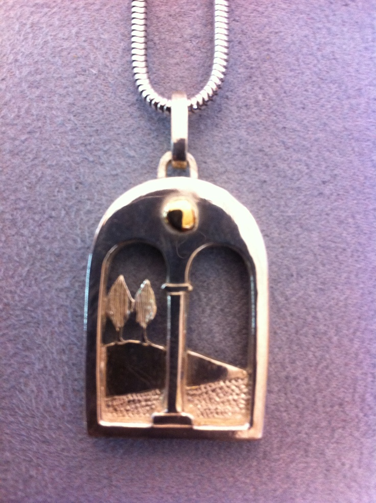 Tuscan landscapes in miniature hand-crafted in silver and gold € 195