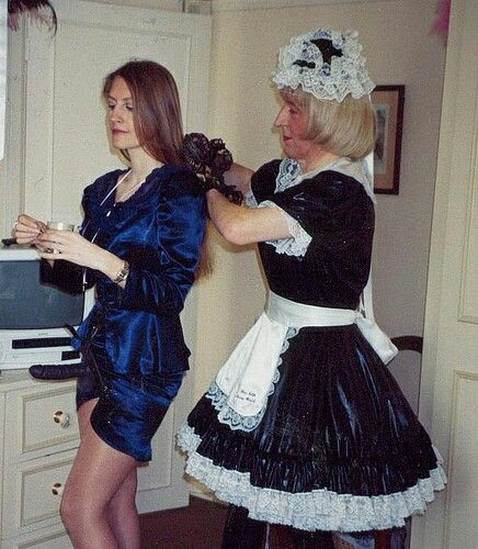 sissy maid brushing her Kidnappers hair  Maid to Serve