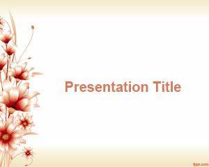 3d Flower PowerPoint Template