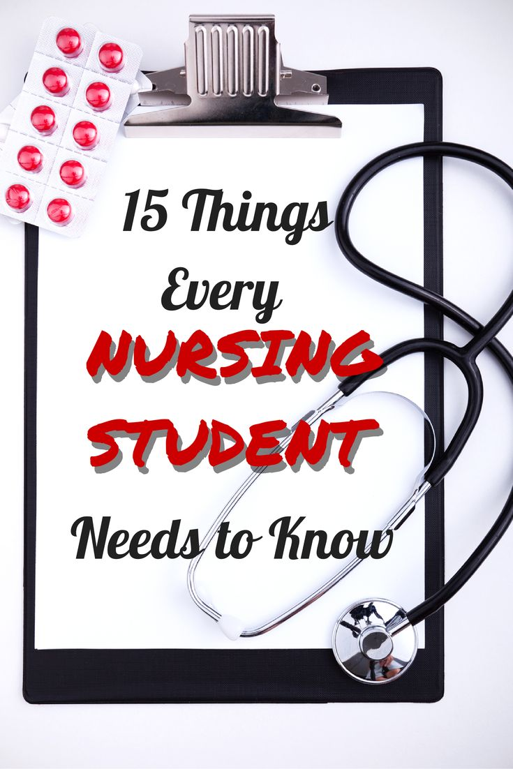 I wish I had known half of these things before starting nursing school