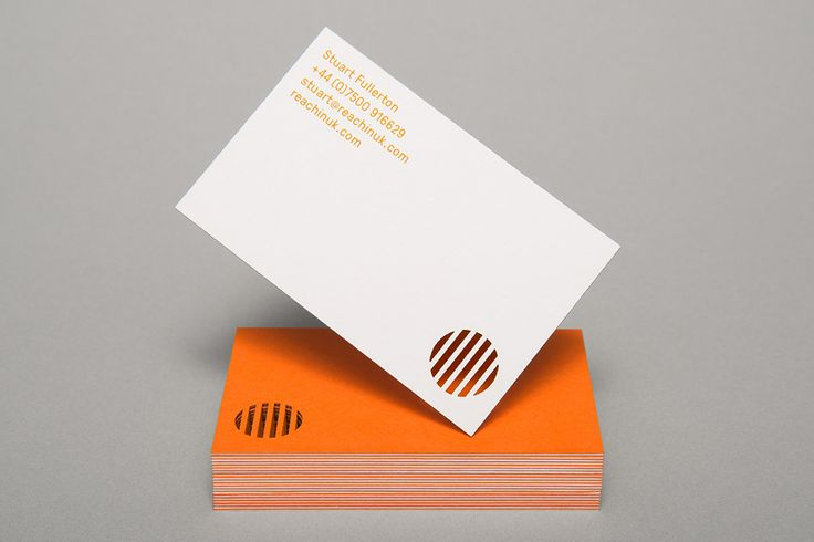 Duplex and die cut Colorplan business card design for charity event Reaching' by Karoshi