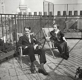Nils and Thora Dardel, Paris, circa 1920. © Riksarkivet, Thora Dardel Hamiltons arkiv