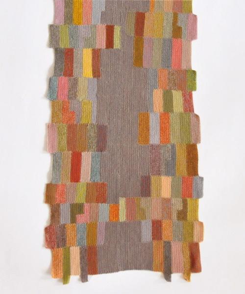 Sophie Digard crochet sideways strips - gorgeous colours...