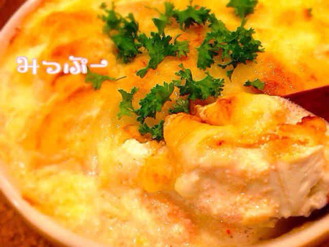 豆腐明太チーズ焼き♡コツなし超簡単♪の画像