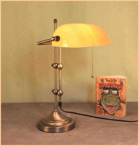 Lampe Buerolampe Schreibtischlampe Banker Tischlamp GN168GE EUR 4990