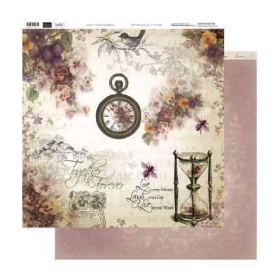 """Couture Creations 12""""x12"""" D/S Paper Hearts Ease ~ Through the Hourglass 