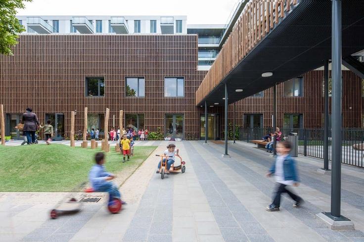 Brede School Fiep Westerdorp  Design: Architectenbureau Paul de Ruiter  Commissioner: Stadsdeel Nieuw-West, Woningstichting De Key